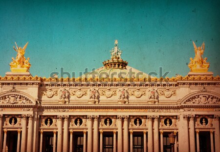 Photo stock: Style · rétro · Paris · France · espace · texte · image