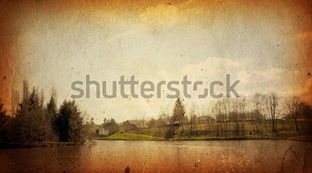Vintage papieru kwiatowy starych tekstury Zdjęcia stock © ilolab