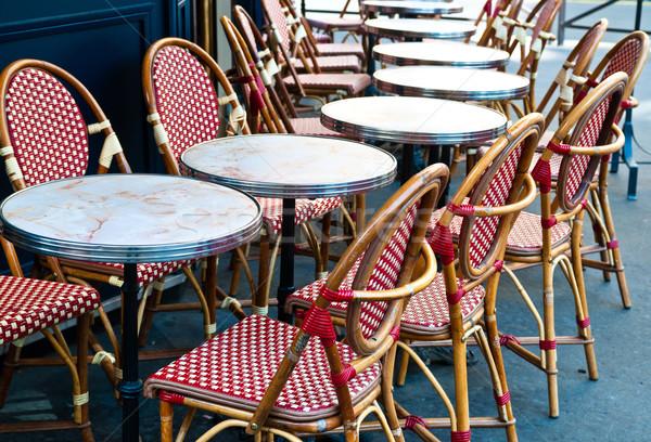 Vista de la calle Servicio terraza vacío edificio calle Foto stock © ilolab