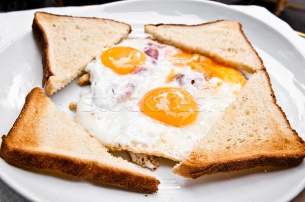 Preparado ovo sol comida prato café da manhã Foto stock © ilolab