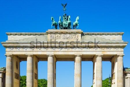 Brandenburg-famous landmark in Berlin Stock photo © ilolab
