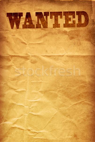 Wanted Stock photo © ilolab