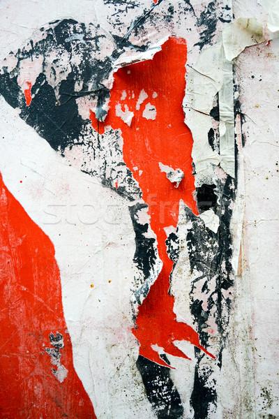 古い ポスター グランジ テクスチャ 背景 壁 ストックフォト © ilolab
