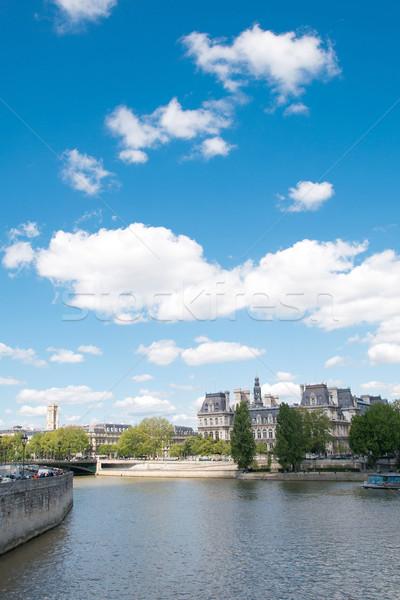 Párizs Franciaország űr szöveg kép papír Stock fotó © ilolab