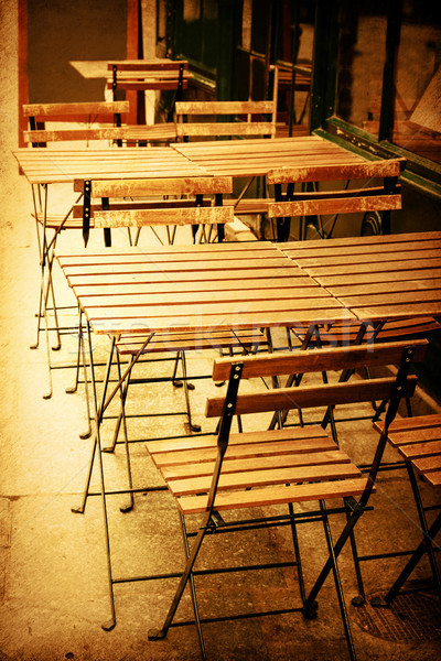 Kávézó terasz kávé utca étterem hotel Stock fotó © ilolab