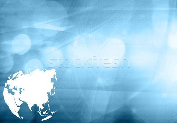 Asia Karte Technologie Stil Kunstwerk Design Stock foto © ilolab