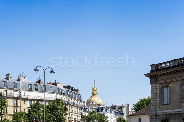 antique city building in paris, france Europe Stock photo © ilolab