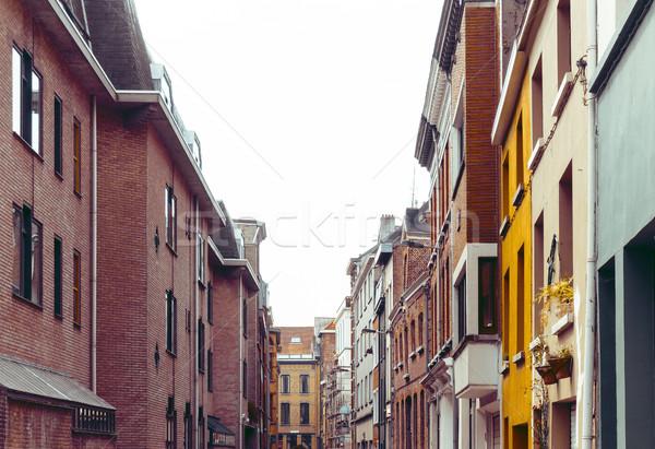 Belle vue sur la rue vieille ville Belgique construction monde Photo stock © ilolab