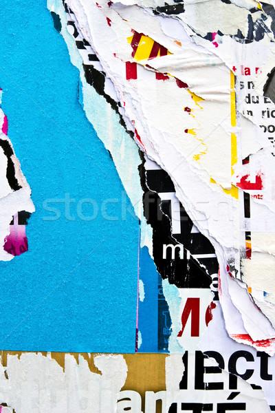 Alten Plakate Grunge Texturen Hintergrund Wand Stock foto © ilolab
