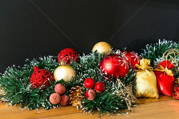 Сток-фото: Рождества · подарок · темно · текстуры · рождения