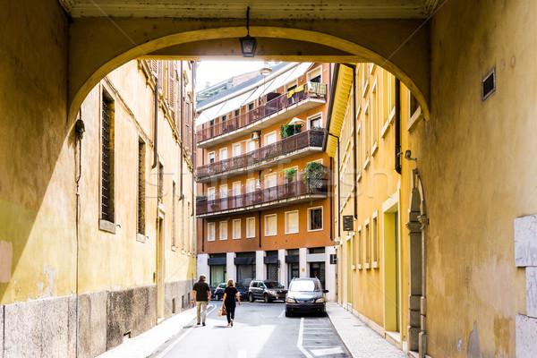 Foto stock: Belo · vista · para · a · rua · verona · centro · mundo · herança