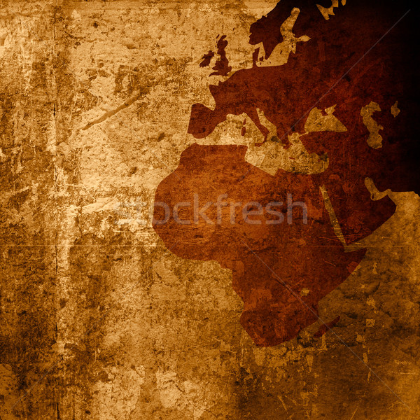 aged asia map-grunge artwork Stock photo © ilolab