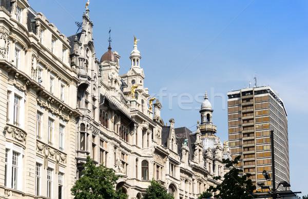 Hermosa vista de la calle barrio antiguo Bélgica construcción mundo Foto stock © ilolab