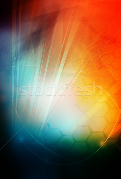 аннотация Cool волны свет фон пространстве Сток-фото © ilolab