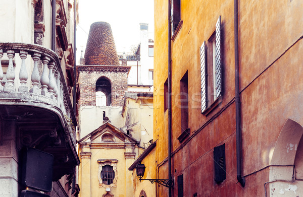 Stock photo: Beautiful street view of  Verona center which is a world heritag