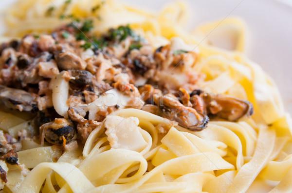 Pasta with Scallops Stock photo © ilolab