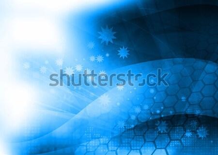 Résumé cool vagues galaxie parfait espace Photo stock © ilolab