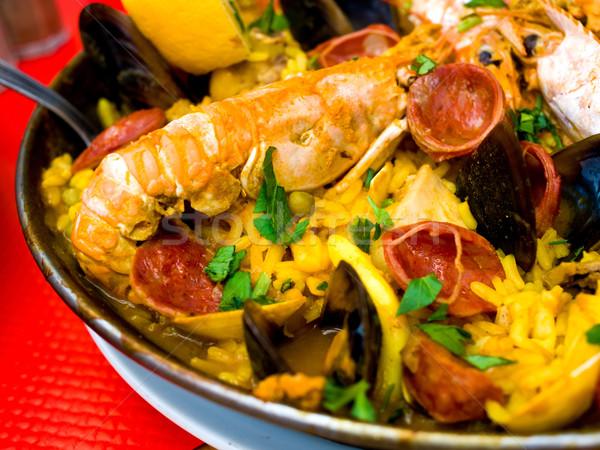 Krewetka ryżu żywności ryb Zdjęcia stock © ilolab