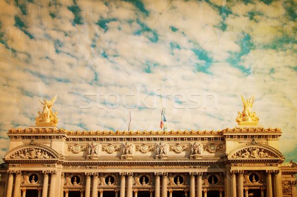 Opéra Paris une architectural ville Voyage Photo stock © ilolab