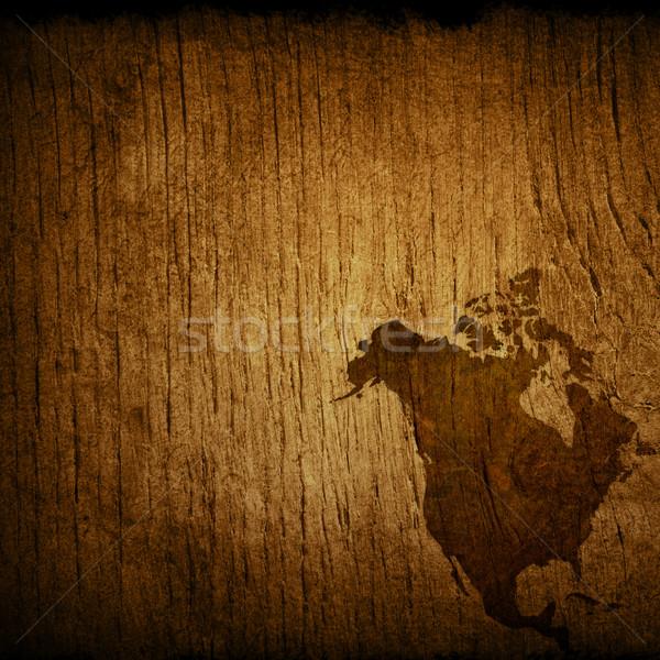 アメリカ 地図 背景 海 ヴィンテージ ストックフォト © ilolab