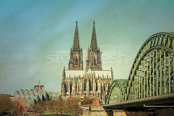 Vintage gothic cattedrale Germania costruzione Foto d'archivio © ilolab