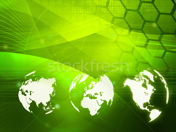 world map technology style Stock photo © ilolab