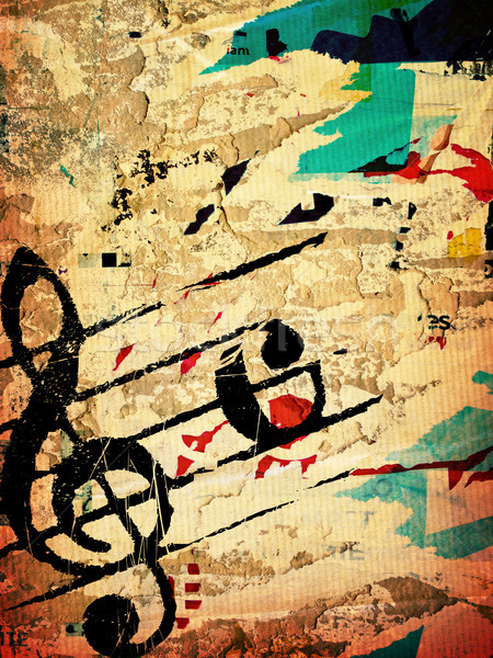 Grunge melodia tekstury streszczenie środowisk przestrzeni Zdjęcia stock © ilolab