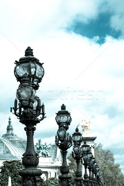 Pont Alexandre III is an arch bridge that spans the Seine Stock photo © ilolab