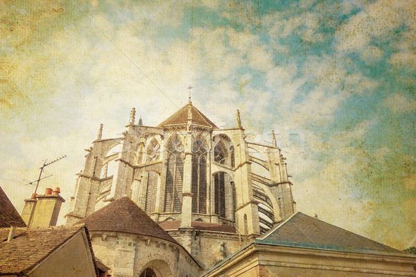 antique church building in france Stock photo © ilolab