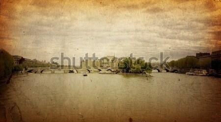 Mooie parijzenaar straten boek blad achtergrond Stockfoto © ilolab