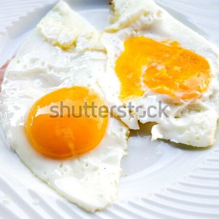 Preparato uovo isolato sole alimentare piatto Foto d'archivio © ilolab