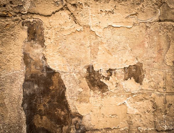 Bruin grunge muur drama dramatisch Stockfoto © ilolab