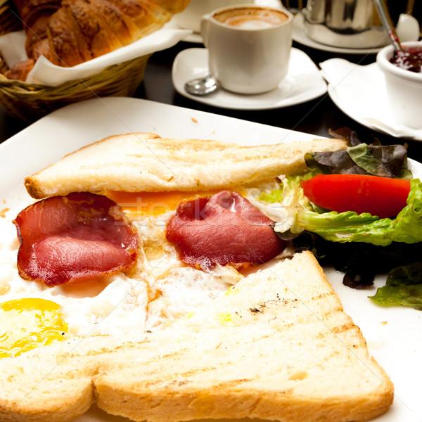 подготовленный яйцо солнце продовольствие пластина завтрак Сток-фото © ilolab