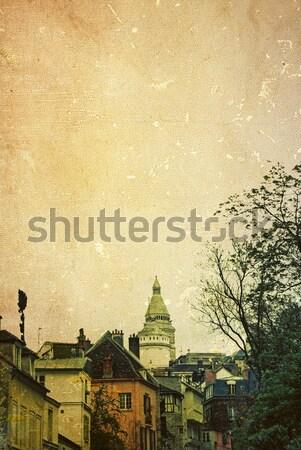 Retró stílus Párizs gyönyörű párizsi utcák Európa Stock fotó © ilolab