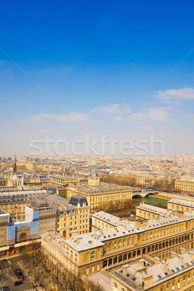 Antyczne miasta budynku niebo domu niebieski Zdjęcia stock © ilolab