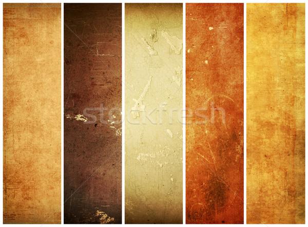 Grunge estilo diferente texturas papel textura Foto stock © ilolab