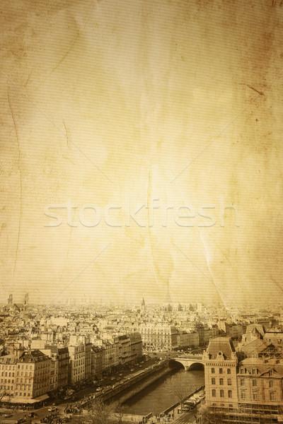 Paryż Francja przestrzeni tekst obraz papieru Zdjęcia stock © ilolab