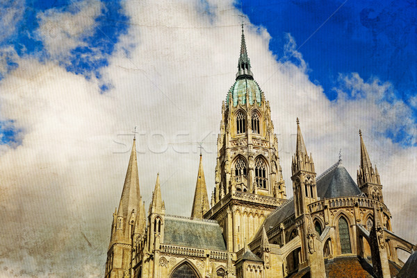Retro church building in france Stock photo © ilolab