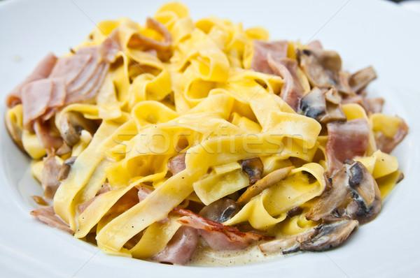 вкусный пасты ветчиной таблице рыбы сыра Сток-фото © ilolab