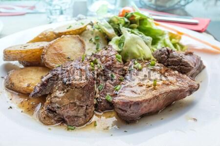 juicy steak veal  Stock photo © ilolab