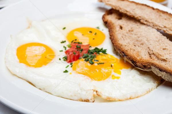 Preparato uovo sole alimentare cena piatto Foto d'archivio © ilolab