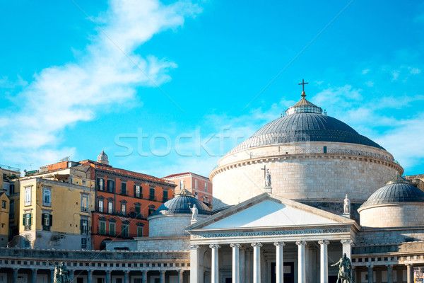 San Francesco di Paola, Plebiscito Square in Naples, Italy Stock photo © ilolab