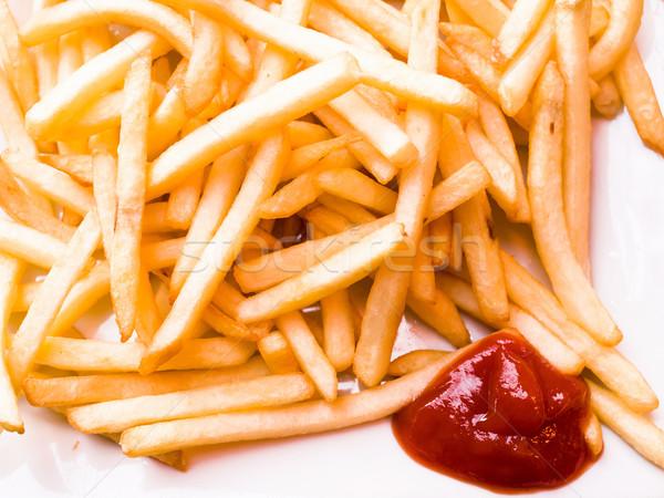 Gouden klaar aardappel fast food Stockfoto © ilolab