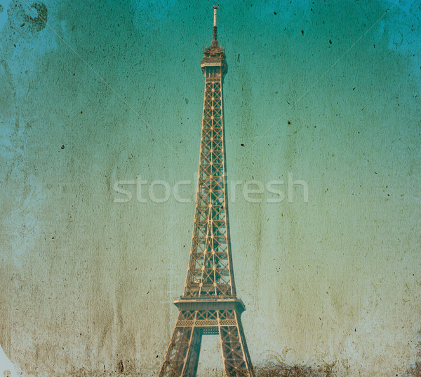 old-fashioned paris Eiffel Tower Stock photo © ilolab