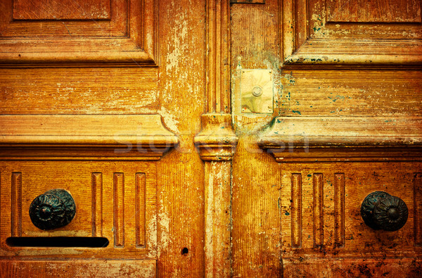 old-fashioned wooden door  Stock photo © ilolab