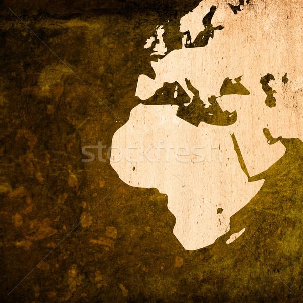 aged Europe map-grunge artwork Stock photo © ilolab
