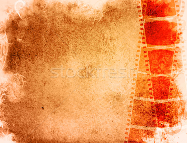Grunge film frame effect groot filmstrip Stockfoto © ilolab