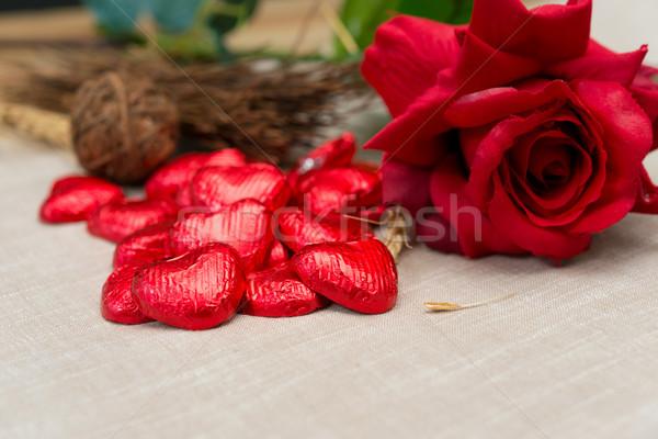 Love sweet heart chocolates  Stock photo © ilolab