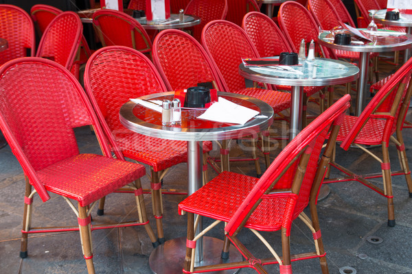 Hagyományos párizsi kávé utcakép terasz étterem Stock fotó © ilolab