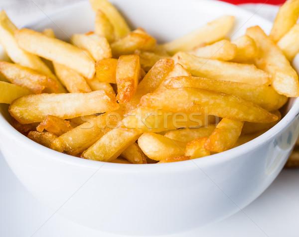 Or frites françaises pommes de terre prêt alimentaire de pomme de terre Photo stock © ilolab